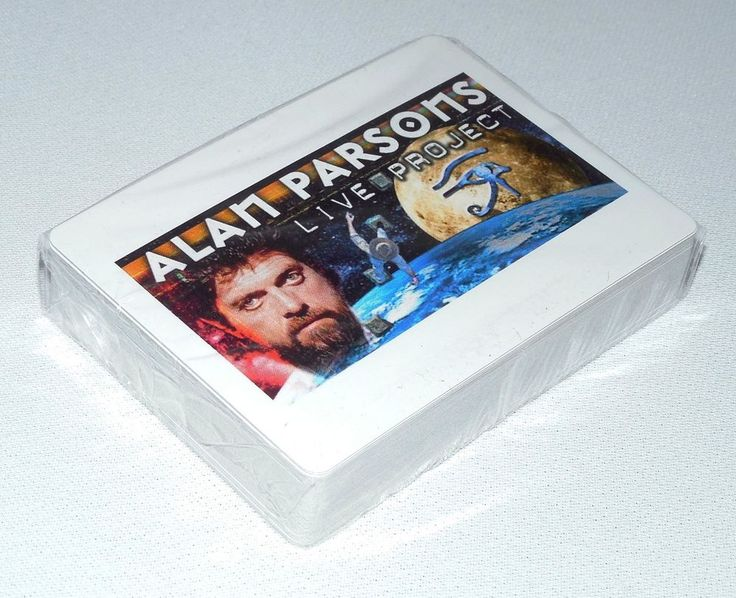 Alan Parsons Live Project Memorabilia: Sealed Deck Of Playing Cards W/Band Image  #AlanParsons  #AlanParsonsLiveProject  #PlayingCards  #DeckCards  #RockandRoll  #ClassicRock  #RockerPlayingCards  #Music  #MusicThemedPlayingCards  #ClassicRockDeckCards  #UniqueGifts  #MusicLoverGifts  #RockandRollGifts  #ClassicRockGifts  #StuffToBuy