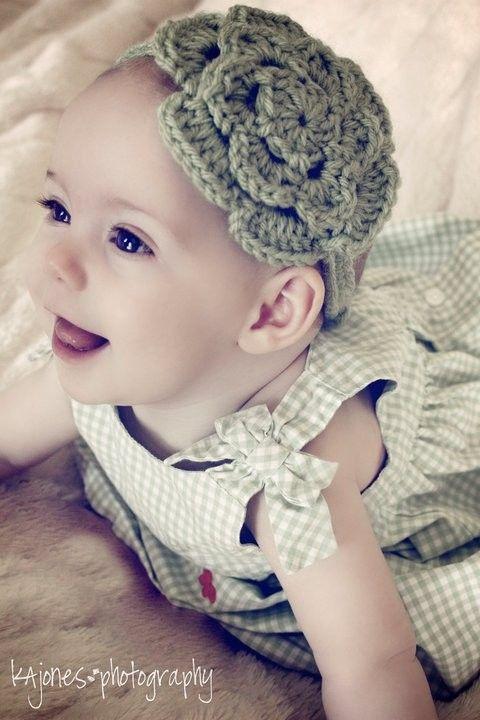 Summer Flower Crochet Headband