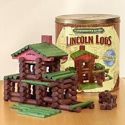 Lincoln Logs, classic building tools for kids and a must have in any classroom, I played with them myself as a kid and my preschoolers have always loved building with them. I've seen some awesome stuff come from working with Lincoln Logs.