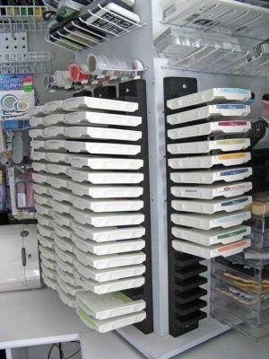 Ikea dvd storage = ink pad storage by latasha