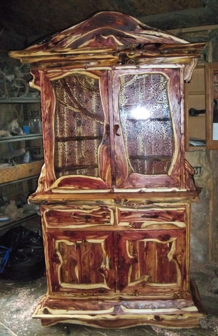 China Cupboard From Juniper Wood.
