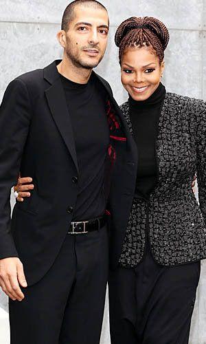 Newlyweds Wissam Al Mana and Janet Jackson, Feb. 25, 2013, Milan Fashion Week (WireImage) pinned by Eve Anthony