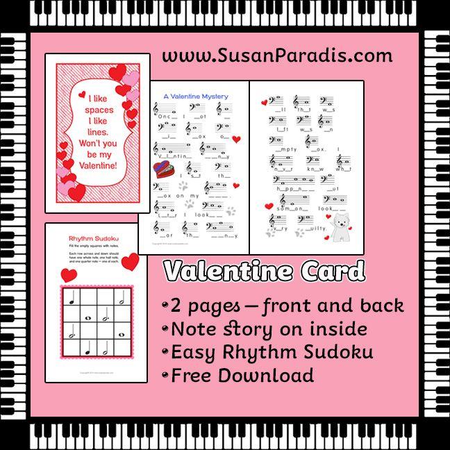 Music Valentine's Day Card