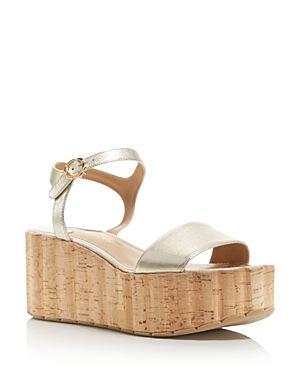 ac420be2399c SALVATORE FERRAGAMO WOMEN S LEATHER ANKLE STRAP PLATFORM WEDGE SANDALS.   salvatoreferragamo  shoes