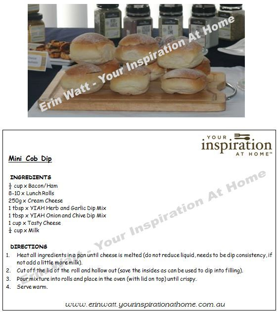 Add flavour to your next cob dip with YIAH Dip Mixes $15.95ea on my website.