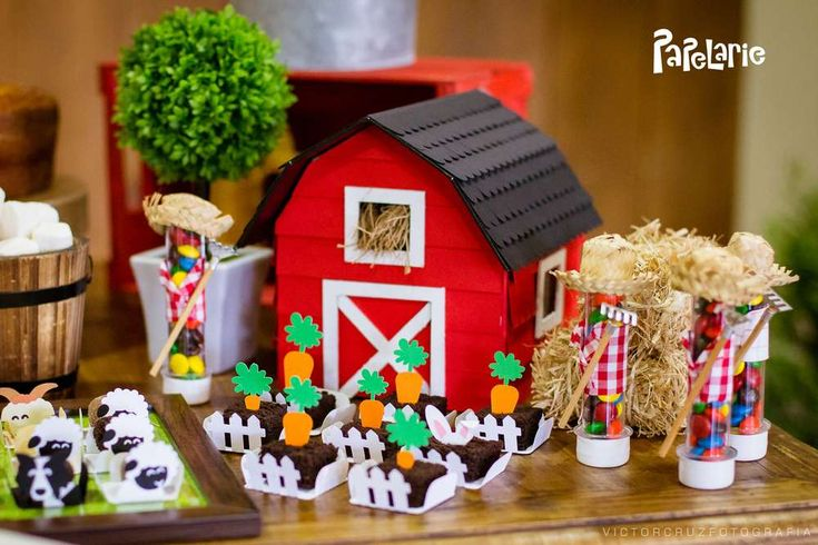 Incredible farm birthday party! See more party planning ideas at CatchMyParty.com!