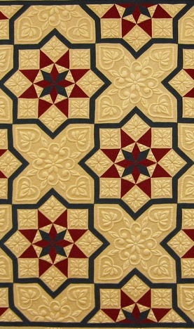 """Detail, """"Federation Tessellation"""" by Mariya Waters, 2001; appears in Why Quilts Matter, Episode 3: The Quilt Marketplace (new DVD)"""