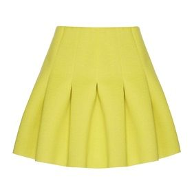Yellow pleated scuba skirt £14.00