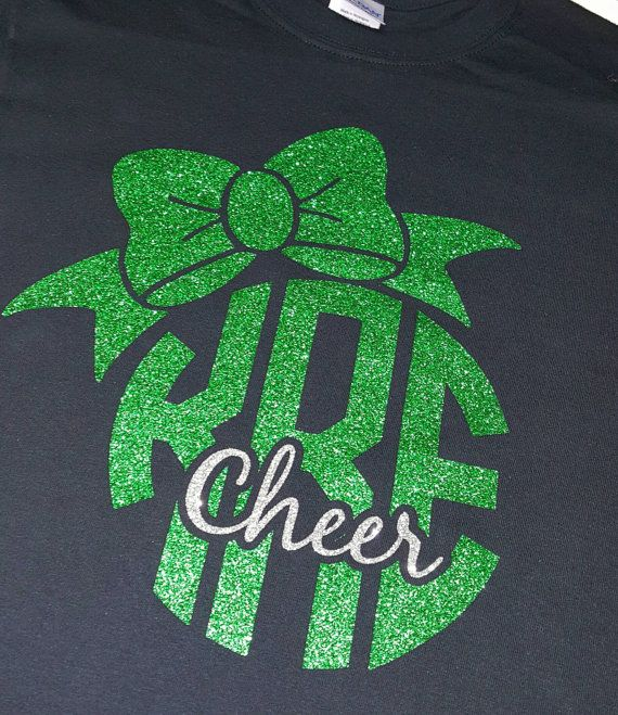 Bow Cheer Shirt All Glitter by CrystalsCreations98 on Etsy