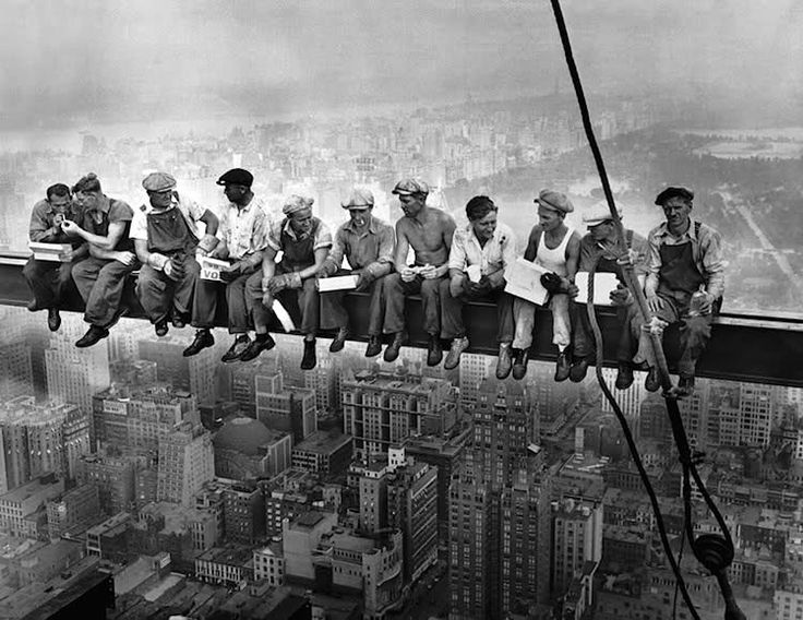 Charles Clyde Ebbets - Lunch atop a Skyscraper, 29 settembre 1932