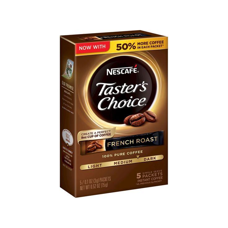 Nescafé Taster's Choice French Roast Instant Coffee - 6ct