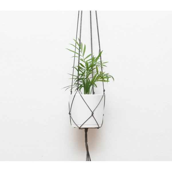PRODUCTS :: LIVING AND DESIGN :: Accessories and Decorations :: Flower pot :: Macrame net for hanging planters COFFEE BROWN