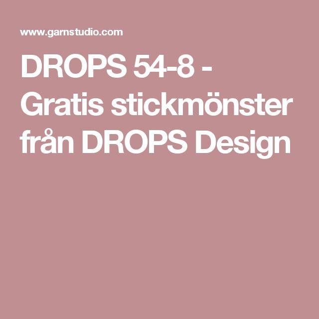 DROPS 54-8 - Gratis stickmönster från DROPS Design