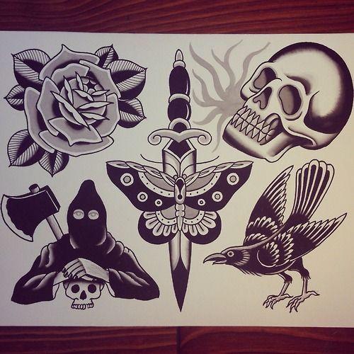 Tattoo flash Traditional tattoos and Classic tattoo on Pinterest