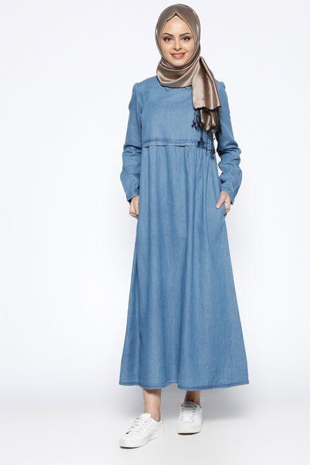 Beha Tesettür Lacivert Piliseli Elbise 49.90 TL  http://alisveris.yesiltopuklar.com/beha-tesettur-lacivert-piliseli-elbise.html
