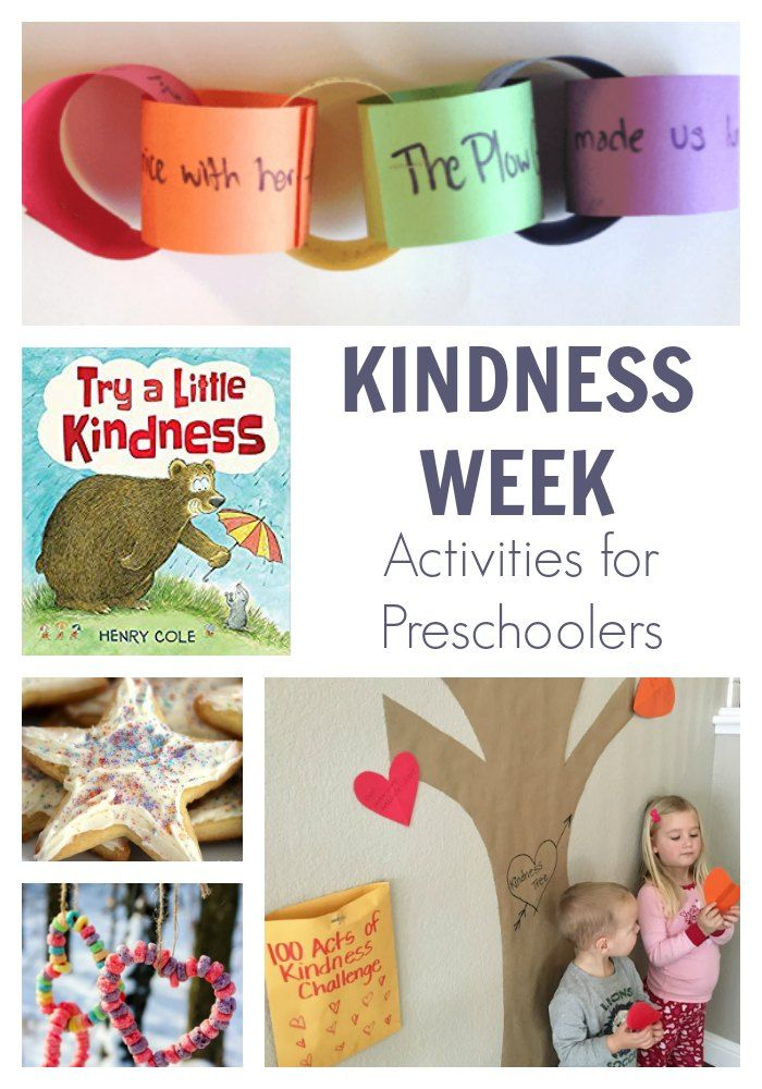 Kindness Week Activities For Preschoolers Inspired By Try A Little Kindness Kids Kindness Activities Kindness Activities Friendship Activities Activities for preschoolers about