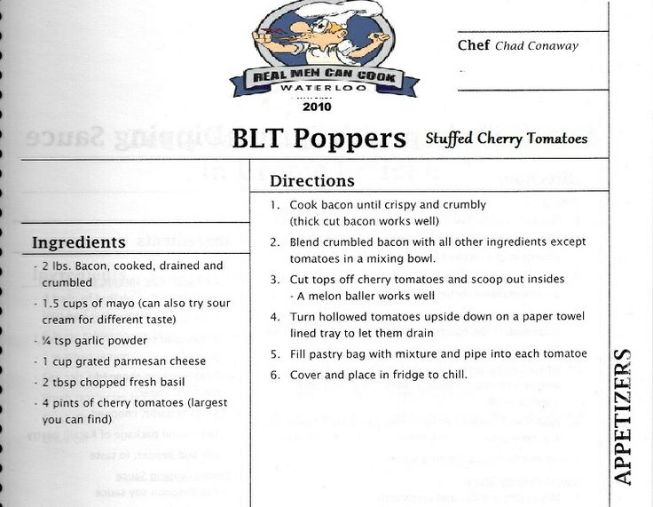 BLT Poppers - Real Men Can Cook 2010 [RMCC]
