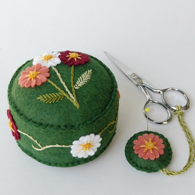 pincushion and scissor fob