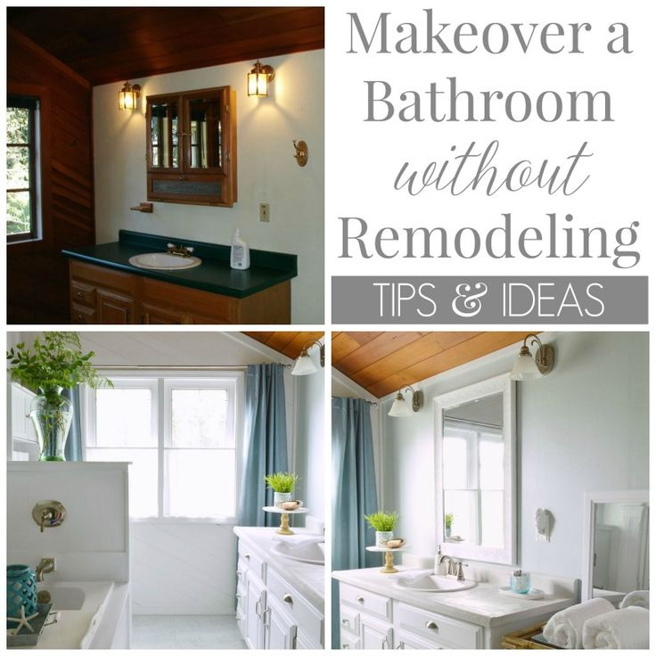 How To Makeover A Bathroom Without Remodeling Walmart Nautical Bathrooms And Planked Walls
