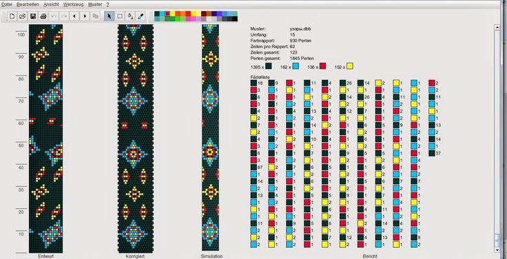Вязаные бисерные жгуты: Схема
