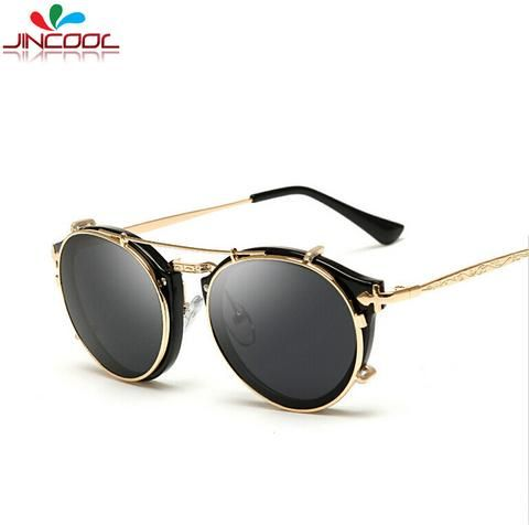 JinCool Metal Steampunk Glasses Men 2016 Fashion Sport Sunglasses Women Brand Designer Luxury Sun Glasses Men Oculos De Sol S963
