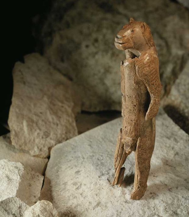 """""""Behold Lion Man, an ancient figurine sculpted from a mammoth's tusk. Discovered back in this remarkable ice age piece is years old, ..."""