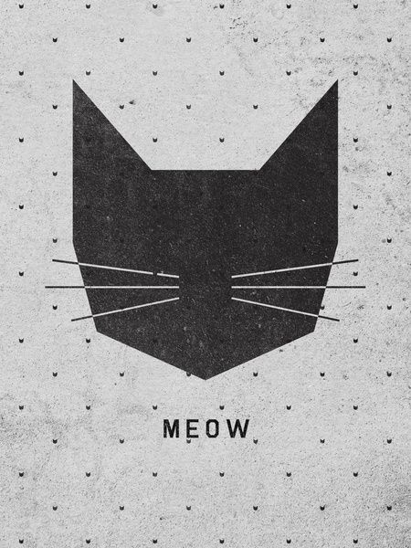 MEOW Art Print by Wesley Bird | Society6