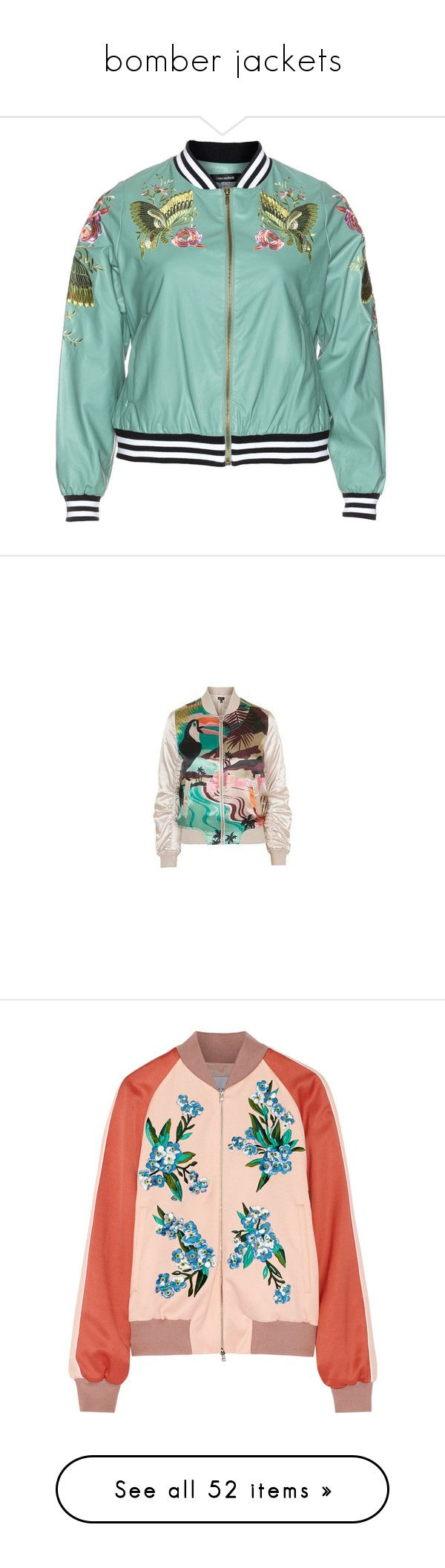 """""""bomber jackets"""" by vaughnroyal ❤ liked on Polyvore featuring outerwear, jackets, mint, plus size, embellished jacket, pastel jacket, green sport jacket, embellished bomber jacket, plus size jackets and topshop jackets"""
