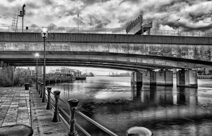 SWPP Highly Commended Award - Monochrome August 2013   - Donegal Quay Overlooking Lagan River - 2 - Geoff McGrath Landscape & Fine Art Photography