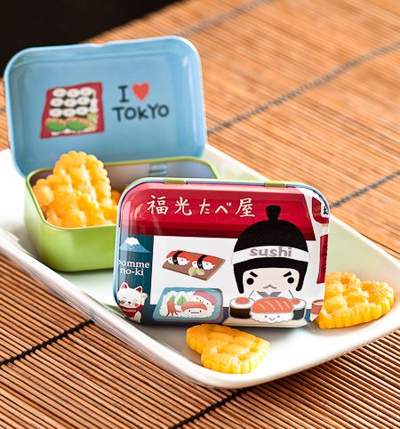 Kawaii Sushi Chef tin box from Pikku shop | www.pikku-shop.com