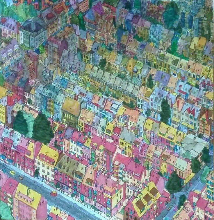 Uit Het Fantastic Cities Boek Getekend Door Steve McDonald Bremen Duitsland Gekleurd Coloring BooksAdult