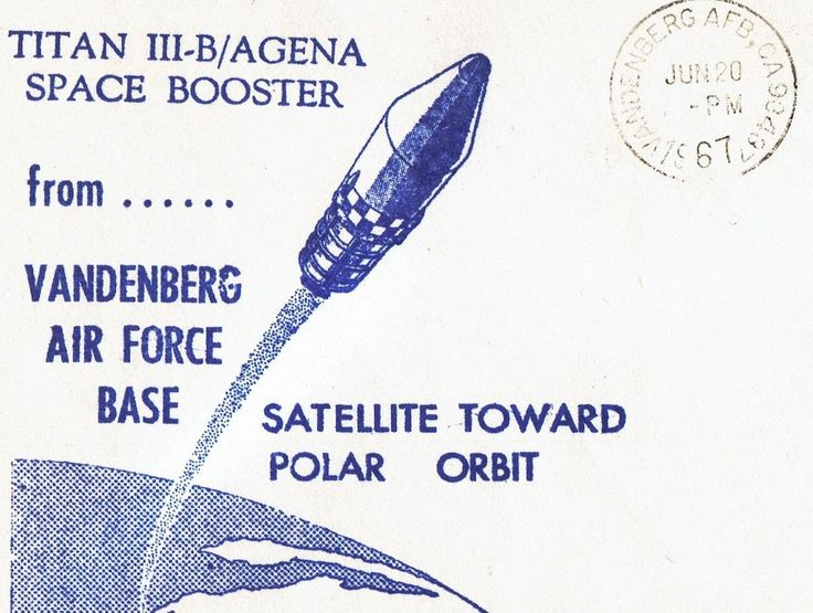 Jun 20 1967 Vandenberg AFB Titan III-B/Agenda Space Booster Polar Orbit Event Cover Lot #C68-1 by UpOnHill61 on Etsy