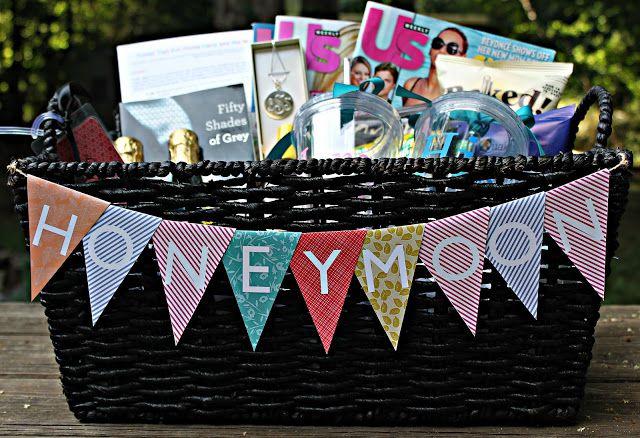 Honeymoon Gift Basket- such a cute wedding gift idea