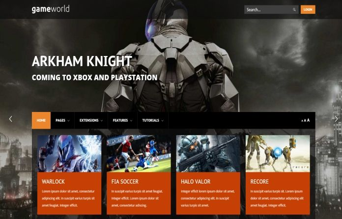 Game World -gives everything you need for a successful #pro #WordPress #website about #games