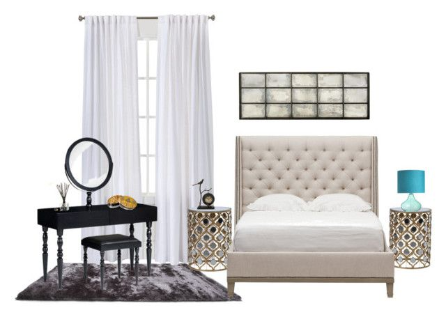 Bedroom by girlie-contrast on Polyvore featuring interior, interiors, interior design, home, home decor, interior decorating, Vanguard, Ardell, Ortigia and bedroom