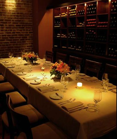 jardinire the wine room capacity exposed brick walls an oversized mirror and mahogany wine racks surround with cozy private dining room
