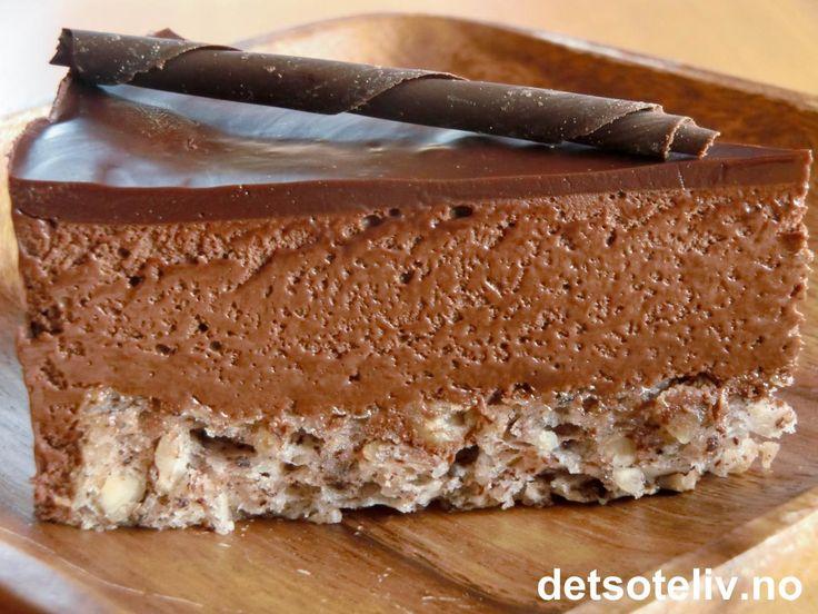 Luksus sjokolademoussekake med konjakk   Det søte liv