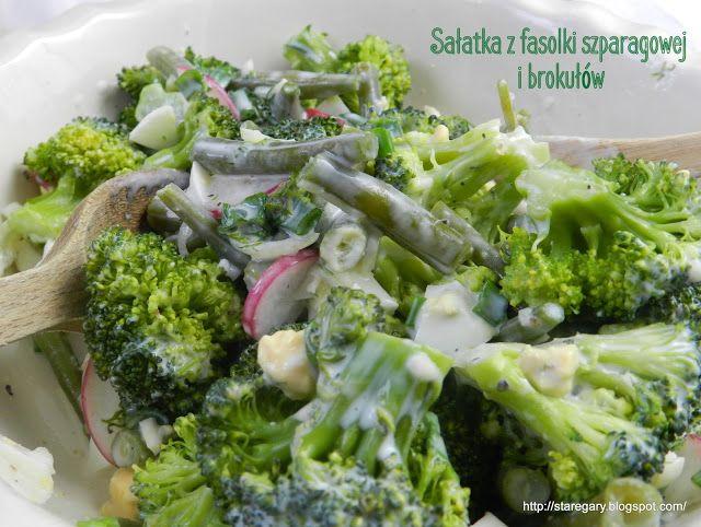 Stare Gary: Sałatka z fasolki szparagowej i brokułów