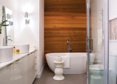 une salle de bain au look spa - Salle De Bain Scandinave Chic