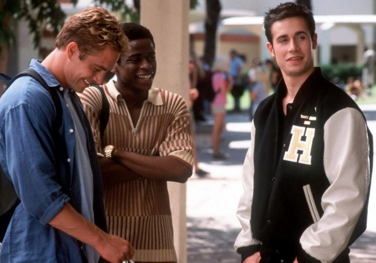 """On the set of """"She's All That,"""" Paul starred opposite Freddie Prinze Jr. and Dule Hill in 1999."""