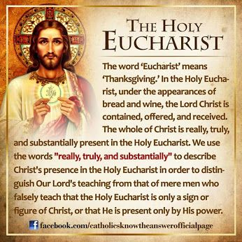 Timeline Photos - Catholics Know The Answer | Facebook For the upcoming Solemnity of Corpus Christi: What is the Holy Eucharist?