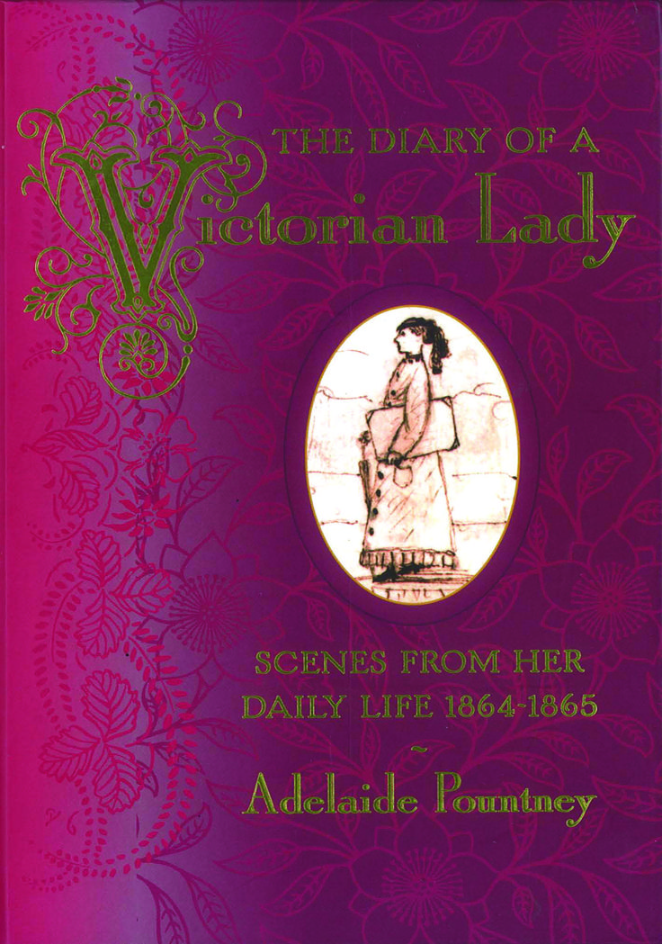 Diary of a #Victorian Lady. A unique little book that would make the perfect #gift or #stocking #filler this #christmas. This edition covers 2 years of entries from Adelaide Poutney who wrote and illustrated her these diary entries from 1864 to 1865. #country #books #diary #lady