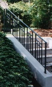 Image detail for -28 picket railing entrance rail 29 curved out picket rail