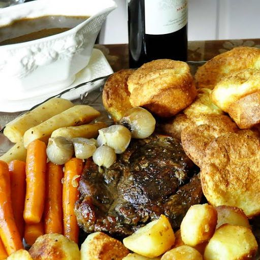 The 25 best roast beef recipe english style ideas on pinterest burgundy thyme pot roast with yorkshire pudding popovers and english style roasted potatoes rock recipes the best food photos from my st forumfinder Gallery
