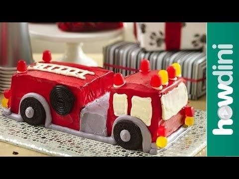 Birthday Cake Ideas: How to Make a Fire Truck Birthday Cake Father's Day cake