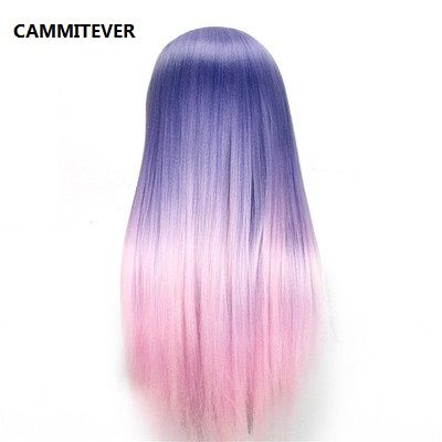 ==> [Free Shipping] Buy Best CAMMITEVER Purple Pink Hairdressing Training Heads Hair 20 inch Mannequin Head With Long Hair High Quality Hair Practice Head Online with LOWEST Price | 32814962901
