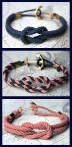 DIY nautical anchor bracelet
