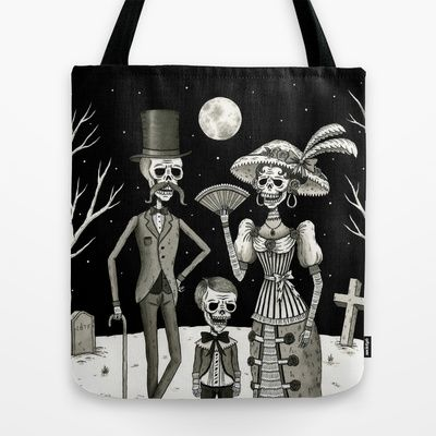Perfect for Halloween!!  Family Portrait of the Passed Tote Bag by Jon MacNair - $22.00