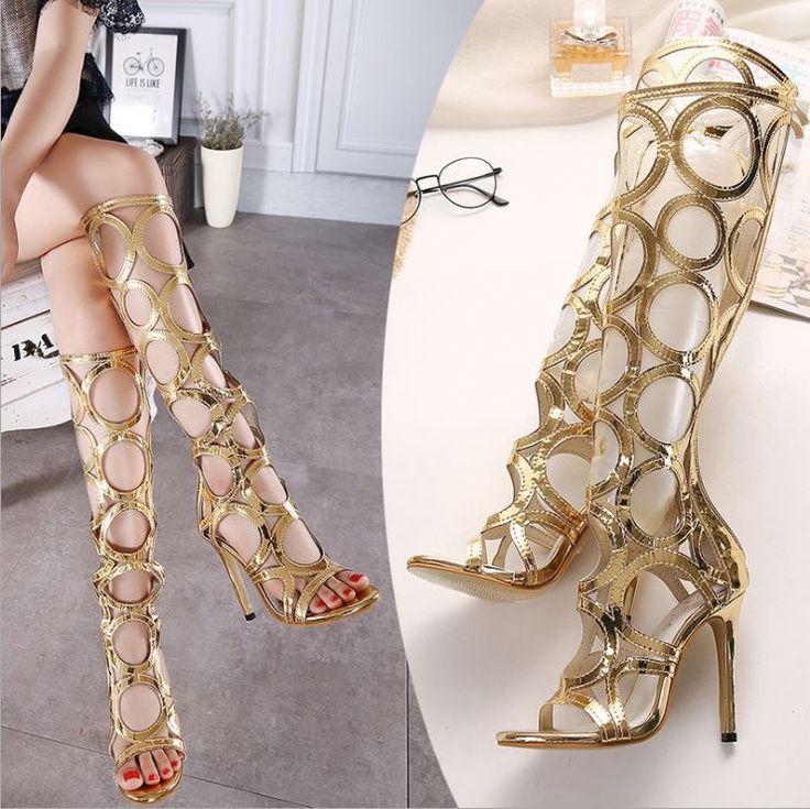 Sandale gladiator aurii