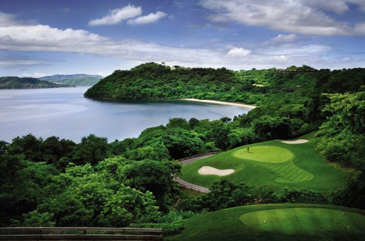 """Designed by Arnold Palmer @Four Seasons Resort Costa Rica's 18-hole, par-72 championship course  is ranked among the """"Top 100 Courses Outside the US"""" by Golf Digest."""